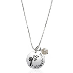 """I Wished for You"" Charm Necklace with Pearl - $13 with Free Shipping!"
